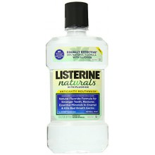 Listerine Naturals Anticavity Fluoride Mouthwash, Herbal Mint, 1.0 L
