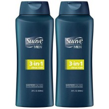 Hommes Suave 3-in-1 Shampooing + revitalisant + Body Wash - Citrus Rush - 28 oz - 2 pk