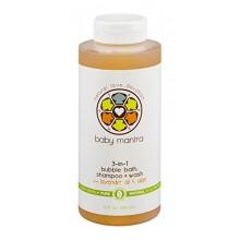 Bébé Mantra 3-in-1 Bubble Bath, Shampoo + Wash avec Lavender Oil & Aloe