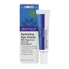 derma e Hydrating Eye Crème with Hyaluronic Acid and Pycnogenol, 1/2 Ounce, 14g