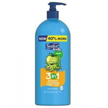 Suave Kids 3 in 1 Shampoo Conditioner Body Wash, Pump, Apple (40 Oz)