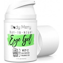 Day-to-Night Eye Gel - Vitamin C Gel for Dark Circles & Puffiness - Best Anti-Aging Moisturizer with Natural Hyaluronic Acid