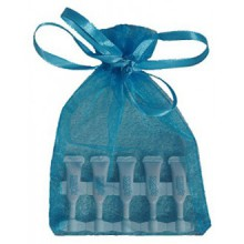 Jeunesse Instantly Ageless 5 Mutli-use Vials (.6mL) in a Beautiful Aqua Organza Gift Bag